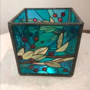 Joan Baker Stained Glass Candleholder